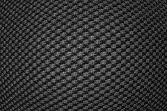 Black convex synthetic fiber Royalty Free Stock Photography