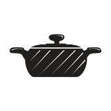Black cook pot Royalty Free Stock Photography