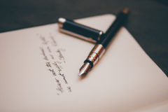 Black and Copper Pen Stock Photography