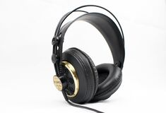 Black Corded Headset Royalty Free Stock Photography
