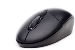 Black cordless computer mouse Stock Images