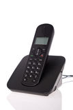 Black cordless phone Royalty Free Stock Image