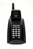 Black cordless phone Stock Photo
