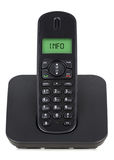 Black cordless phone Royalty Free Stock Photo