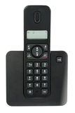 Black cordless phone on white background Royalty Free Stock Images