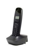 Black cordless telephone Stock Photos