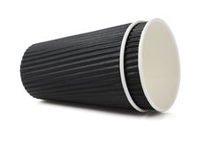 Black Corrugated Paper Cups Stock Photography