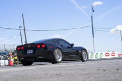 Black corvette Royalty Free Stock Photography