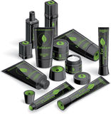 Black Cosmetics Array Stock Photo