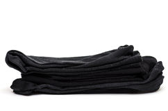 Black cotton socks Royalty Free Stock Photo