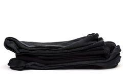 Black cotton socks Royalty Free Stock Photo