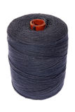 Black cotton twine on bobbin Royalty Free Stock Photo