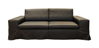 Black couch Royalty Free Stock Photo
