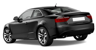 Black coupe car Royalty Free Stock Images