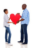 Black couple heart Royalty Free Stock Images