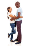 Black couple hugging Royalty Free Stock Photography