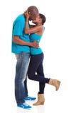 Black couple kissing Royalty Free Stock Photos