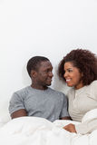 Black couple looking each other Royalty Free Stock Images