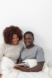 Black couple using the ipad Stock Images