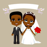 Black Couple Wedding stock illustration