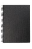 Black cover of notebook Royalty Free Stock Image