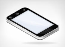 Black cover smart phone in isometric view Royalty Free Stock Image
