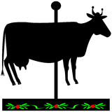 Black cow sign. Stock Photography