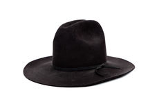 Black cowboy hat on white Stock Images