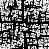 Black crackled abstract texture Royalty Free Stock Image