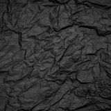 Black crampled paper royalty free stock photo
