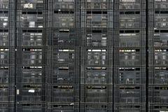 Black crates Stock Photo