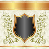 Black creamy gold background Stock Photos