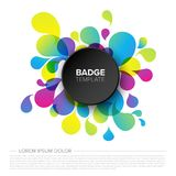 Black badge / tag template. Black creative badge / tag template with sample content and fresh background royalty free illustration