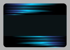 Black creative card with blue stripes Royalty Free Stock Photography
