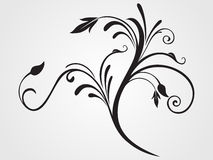 Black creative filigree pattern tattoo Royalty Free Stock Photography