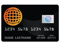 Black Credit Card Royalty Free Stock Photo