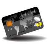 Black credit card Stock Images