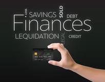 Black credit card on black Royalty Free Stock Photos