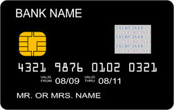 Black credit card concept. Illustration Royalty Free Stock Images