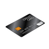 Black Credit Card Stock Image