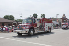 Black Creek Rural Fire Department Truck. SEYMOUR, WI - AUGUST 4: Black Creek Rural Fire Department Truck at the Annual Hamburger Festival Parade on August 4 stock photo