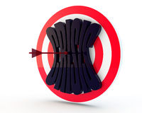 Black crisis and arrow Stock Photography