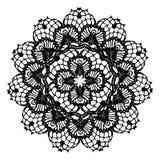 Black crochet doily. Stock Image