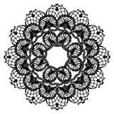 Black crochet doily. Stock Photography