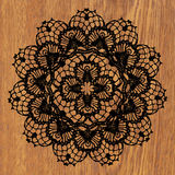 Black crochet doily. Royalty Free Stock Images