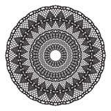 Black crochet doily. Stock Images