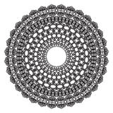 Black crochet doily. Stock Image