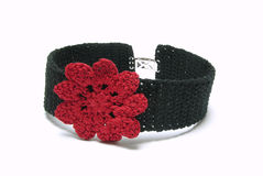 Black crocheted collar Royalty Free Stock Images