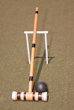 Black Croquet Mallet Stock Photo