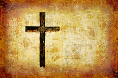Black cross. Glowing black cross with copyspace Royalty Free Stock Photo